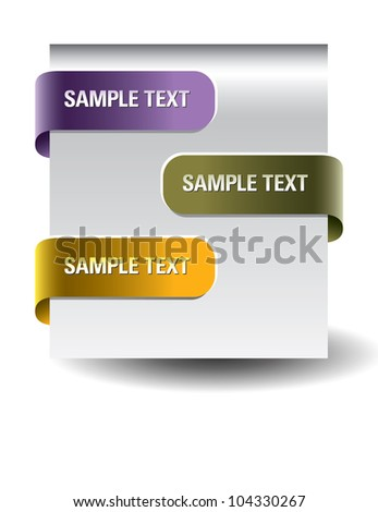 Set of paper tags. Eps10. - stock vector