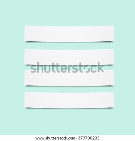 Set of paper tags. Eps10 vector for your design - stock vector