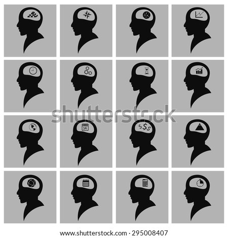 Set of people icon, the man vector illustration. Flat design style. - stock vector