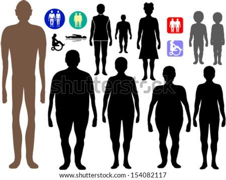Set of people symbols - stock vector