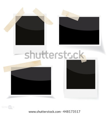 Set of photo frames - stock vector