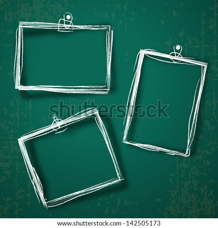Set of photo frames on abstract background. - stock vector