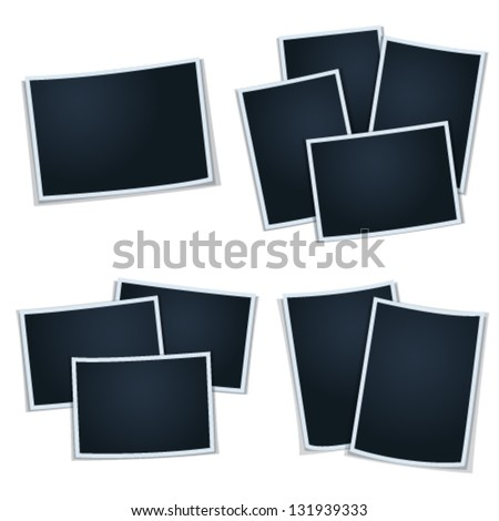 Set of photos (frames) for your picture - stock vector