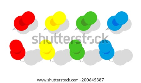 Set of Pins, vector illustration in EPS10. - stock vector