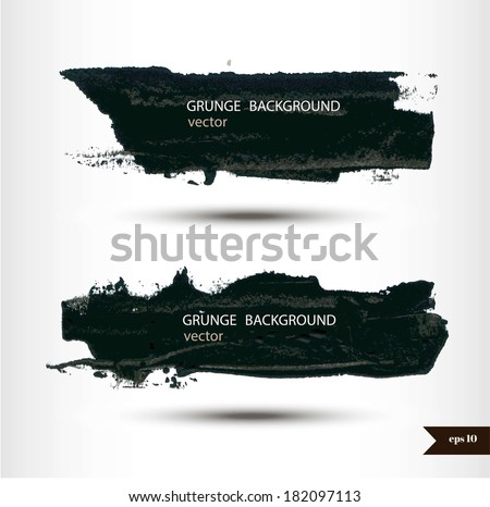 Set of plash banners. - stock vector
