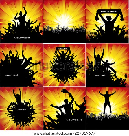 Set of posters for sports championships and concerts. - stock vector