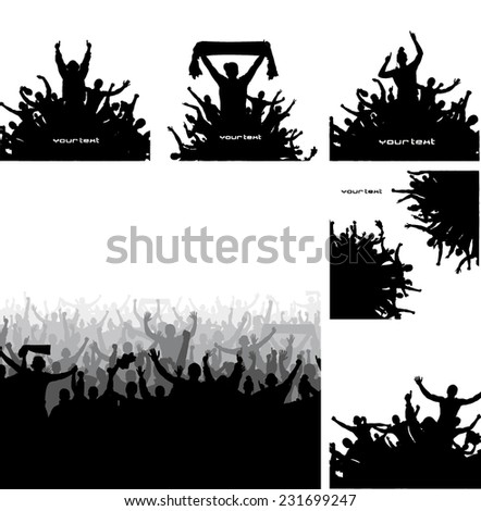 Set of posters for sports championships and festival - stock vector