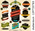 Set of premium quality labels and stickers. - stock vector