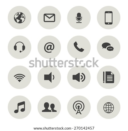 Set of Quality Communication Icons - stock vector