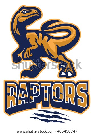 Set of Raptor mascot - stock vector