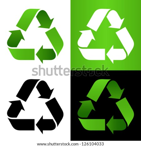 Set of recycle sign - stock vector