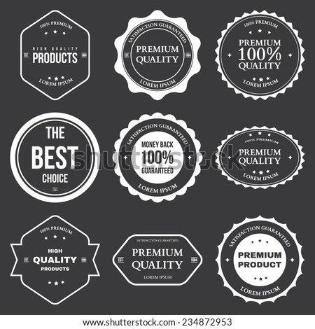 Set of retro vintage badges and labels vector illustration - stock vector