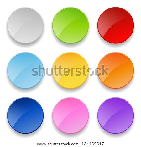set of round buttons - stock vector