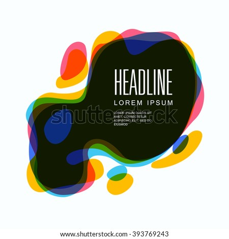 Set of round colorful vector spot. Abstract vector illustration. Design elements. Background design for your design - stock vector
