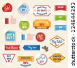 Set of sale stickers and tags - stock vector