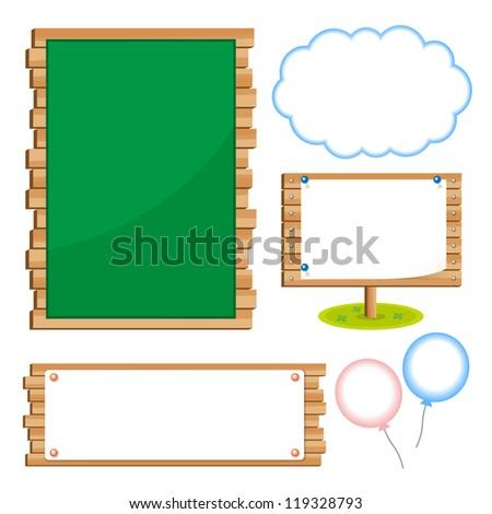 Set of school board blackboards - stock vector
