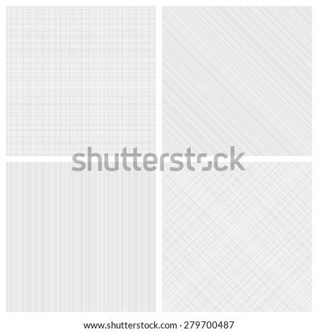 Set of seamless monochrome hatch patterns - stock vector