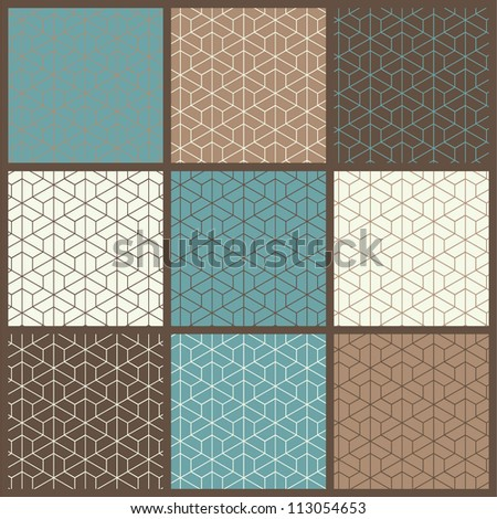 Set of seamless pattern backgrounds. - stock vector