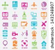 Set of seo and internet service icons - part 8 - vector icons - stock vector