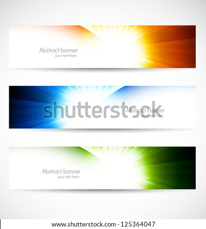 Set of shiny banners. Abstract illustration - stock vector