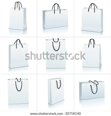 set of shopping bag - stock vector