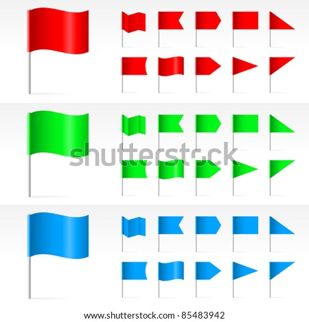 Set of simple Banners. Illustration on white background - stock vector