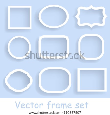 Set of simple paper labels. Vector illustration with design elements. - stock vector