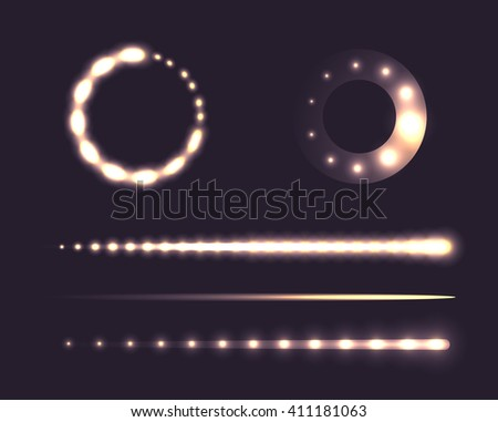 Set of sliders with loading. Vector design elements for websites, banners - stock vector
