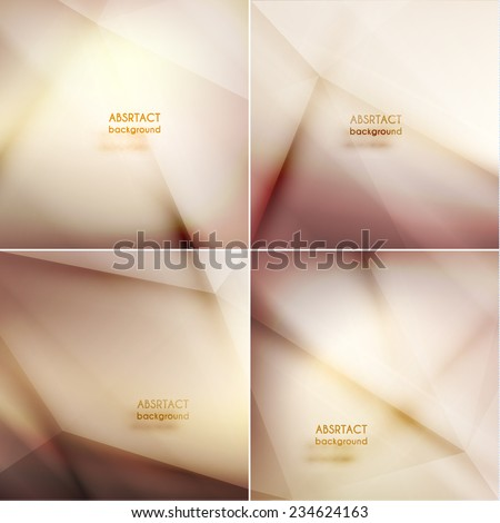 Set of smooth asbtract geometric backgrounds  - eps10 vector - stock vector