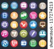 Set of social media buttons for design - part 1 - vector icons - stock vector