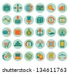 Set of social media marketing icons - vector icons - stock vector