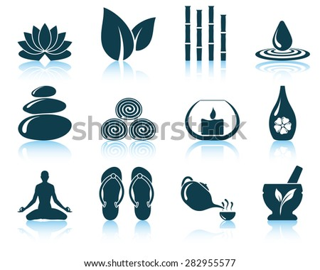 Set of spa icons. EPS 10 vector illustration without transparency. - stock vector