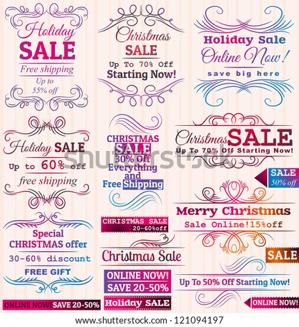 Set of special sale offer labels and banners - stock vector