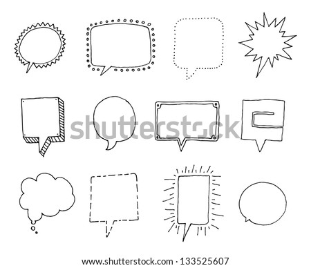 Set of Speech bubbles with personality - stock vector