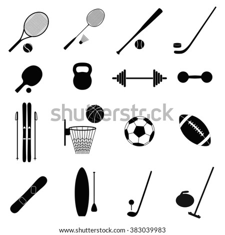 Set of sport icons, vector illustration - stock vector