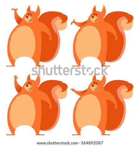 Set of squirrels - stock vector