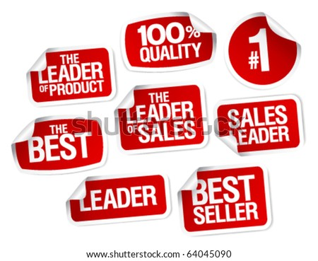 Set of stickers for best sales - stock vector
