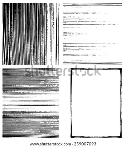 Set of striped grunge textures and backgrounds. Vector eps10. - stock vector