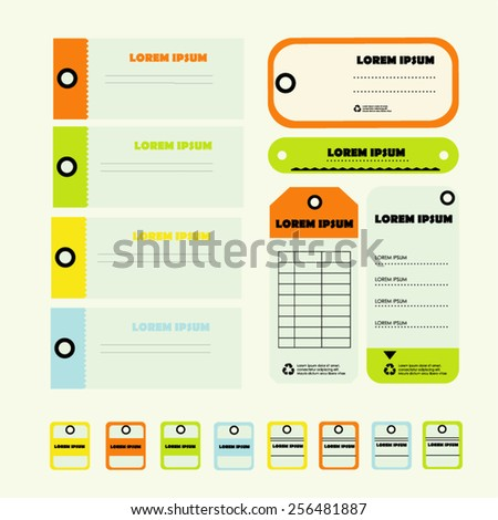 set of stylish vector isolated modern tickets  - stock vector