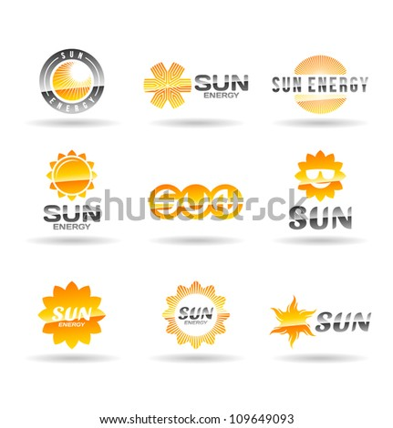 Set of sun icons. Second set. - stock vector