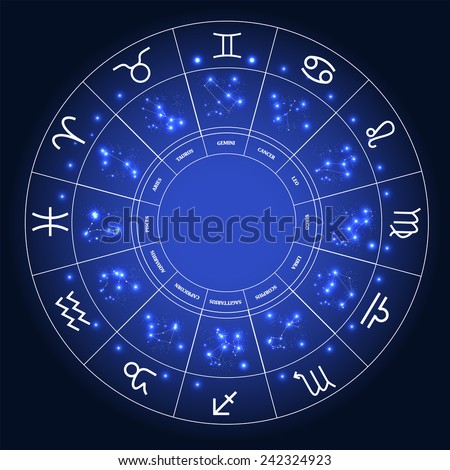 Set of Symbol Zodiac Sign. Vector Illustration. EPS10 - stock vector