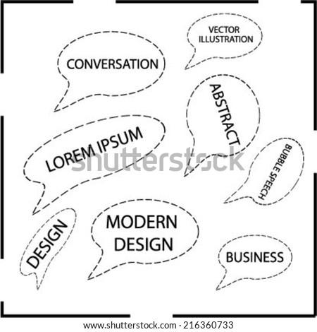 Set of talk bubble . Vector illustration.  - stock vector