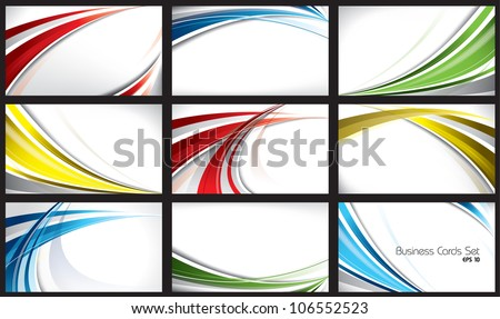 Set of Templates for Business Cards. Eps10. - stock vector