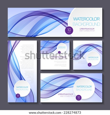 Set of templates for print or web design - stock vector