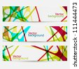 Set of three colorful abstract banners - stock vector