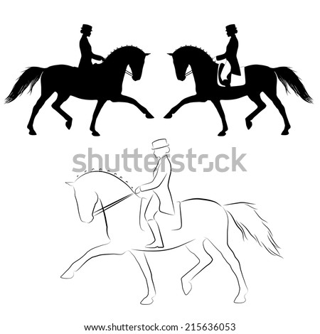 Dressage Horse With Rider