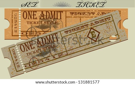 Set of tickets for the car and the brochure. A vector illustration a template. EPS10 - stock vector