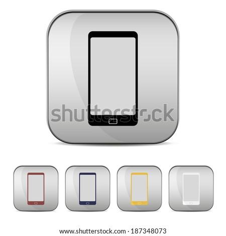 Set of touchscreen smartphones - stock vector