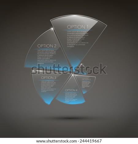 Set of transparent modern elements for web design. eps 10 - stock vector