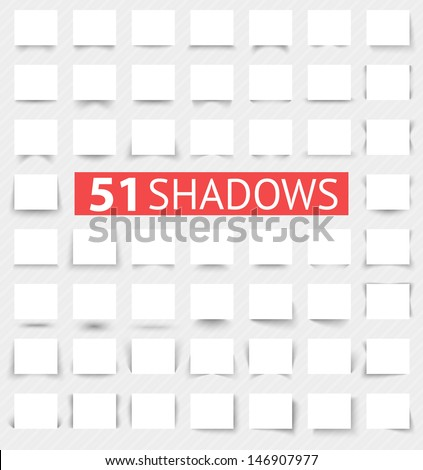 Set of transparent realistic shadow effects. Vector illustration for your modern design. Web banners. Increase sizes and change rectangle proportions to necessary without quality loss. - stock vector